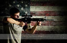 senior, senior pictures, american flag, merica, stars and stripes, guns,