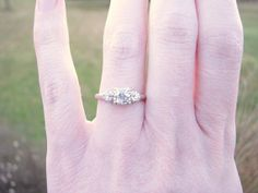 Art Deco Diamond Engagement Ring Fiery Old European by Franziska