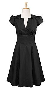 Surplice-Front Cotton Twill Dress from eShakti