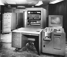 This is the 701. In 1953 the 701 was shipped by IBM. It was the first electronic computer created. During the computer's years of production, IBM sold the machines to aircraft companies, the government, and laboratories.