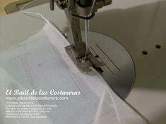 Cómo hacer un dobladillo de vestido en seda chifon con máquina de coser doméstica