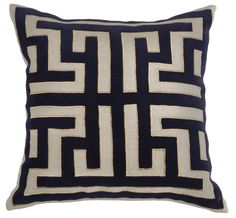 RF Gavle Pillow in Indigo & Gold design by Villa Home | BURKE DECOR