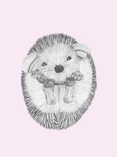 Nursery Print ~Henry The Hedgehog~ 5x7