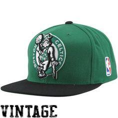 factory price 4685d 02f99 Mitchell   Ness Boston Celtics XL Logo Two Tone Snapback Hat - Kelly Green  Black