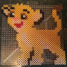 Simba The Lion King perler beads by megacloverx