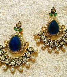 Buy Designer Bollywood Jhumka Jewellery Earrings For Navratri,Diwali,Wedding-LFER014 #9
