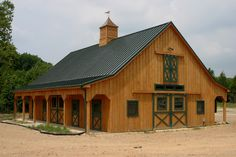 Five horse stalls, wash stall, tack room/office, grain room, full length porches, full loft :).