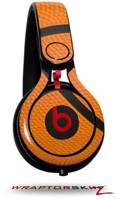 Basketball Decal Style Skin (fits genuine Beats Mixr Headphones - HEADPHONES NOT INCLUDED)