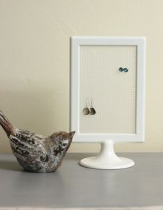 Earring Holder Post Earring Stand by strawflowerstudio on Etsy