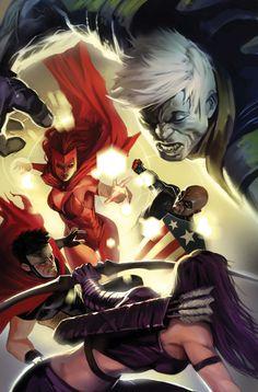 Young Avengers vs. Scarlett Witch by Marko Djurdjevic