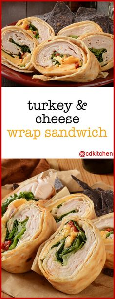 Turkey-Cheese Wrap - Great make-ahead option for picnics or packed lunches. Wraps with turkey and cheese with some ranch dressing are great with added produce like lettuce and tomato. Made with flour Picnic Sandwiches, Turkey Sandwiches, Wrap Sandwiches, Slow Cooker Bread, Bite Size Snacks, Turkey Wraps, Lunch Wraps, Ranch Dressing, Salad Dressing