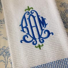 Fleur Monogram Embroidery Font