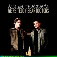 Teddy bear doctors #Supernatural