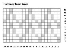 Harmony terän kuvio korjattu Knitting Socks, Knit Socks