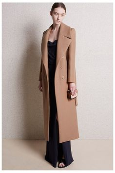 Carven Pre-Fall 2015 | Camel Wool Coat | PreCouture.com