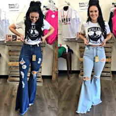 Trendy Outfits, Fall Outfits, Summer Outfits, Cute Outfits, Fashion Outfits, Rock Chic Outfits, Rodeo Outfits, Womens Ripped Jeans, Ripped Denim
