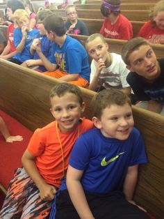 IH and Hunter at Vbs!!!!