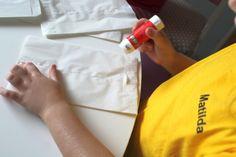 Papírové vánoční hvězdy z pytlíků - Testováno na dětech Plastic Cutting Board