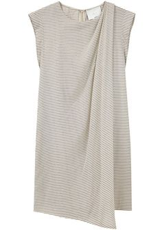 3.1 PHILLIP LIM PRINTED DRAPE FRONT DRESS