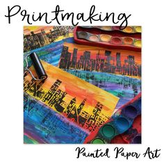 Printmaking is magical for kids and adults as well. The process of creating an image then transferring that image to another piece of paper is so exciting. There are so many different ways to print…