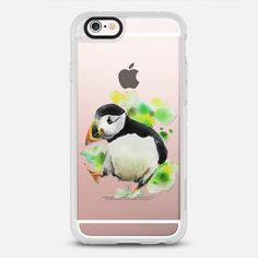 Spring Puffin Bird Watercolor Painting Transparent - New Standard Case