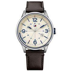 Relógio Tommy Hilfiger Masculino Couro Marrom - 1791102