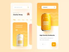 list of some Great Stunning Food & Drink Mobile App UI Design Sample in this post to give you an innovative boost. Food is an important Web Design, App Ui Design, Mobile App Design, User Interface Design, Flat Design, Graphic Design, Design Layouts, Design Trends, Kombucha