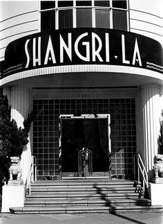 Shangri-La Apartments (now Hotel), Santa Monica, California, William E. Foster, architect, 1939-40