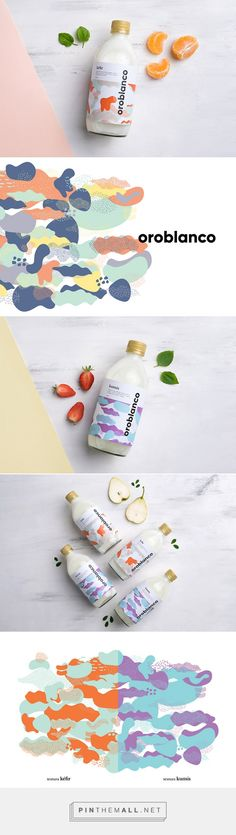 Oroblanco Kéfir and Kumis by Pupila. Co. Source: Daily Package Design Inspiration. Pin curated by #SFields99 #packaging #design #inspiration #ideas #branding #dairy #products