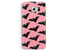 Samsung Galaxy S6 Case, Bat Samsung case, S6 Case, Kawaii S6 Case, Case for S6, Cute Bat pattern, Goth Girl phone case, Vampire Samsung case