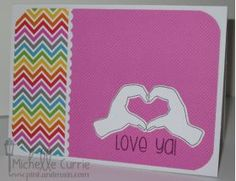 Pink and Main Fun Hands Photo polymer Clear Stamp Set
