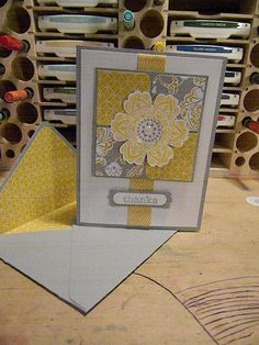 Stampin' Up Thank you Card by CoffeeandCardstock on Etsy