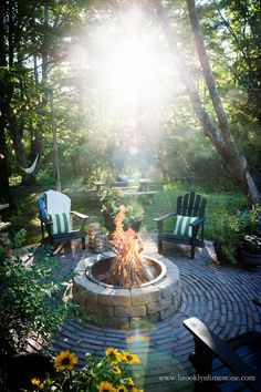 Country Cottage DIY Circular Firepit Patio