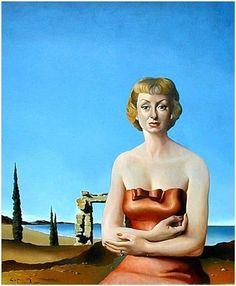 Portrait of Woman in Seascape - Jose Manuel Capuletti