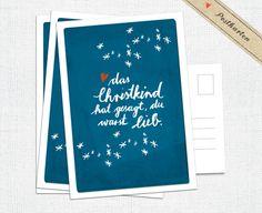 """Weihnachtskarte: """"das Christkind hat gesagt, du warst lieb.""""    Andere Sets der Weihnachtsgrußkarten: Die Weihnachtkarten gibt's auch im 15er und 52er Pack im Shop! (Schaut mal in unserer Kategorie..."""