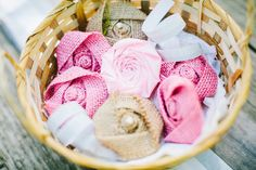 Rustic Wedding Decor Burlap Flowers Shabby Chic Rosettes Wedding
