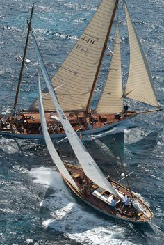 Old school yachting