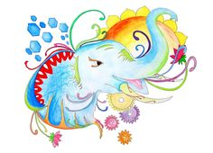 My new artwork, the Abstract Elephant illustration is now ready! It has a bright…