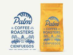 Palm Coffee Roasters Latin Espresso by Zeki Michael on Dribbble Coffee Packaging, Coffee Branding, Bottle Packaging, Brand Packaging, Packaging Design, Chocolate Packaging, Food Packaging, Coffee Shop Logo, Coffee Company