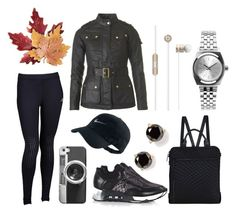 """""""fall athleisure edit"""" by eqlmag on Polyvore featuring Elliott Lucca, Barbour, Skechers, Ash, Croft & Barrow, Kate Spade, Nixon, NIKE, Casetify and equestrian"""
