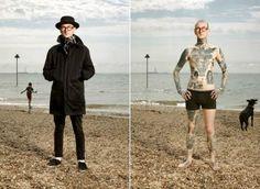 Никогда бы не подумали! Татуировки, тщательно скрытые одеждой (20 фото)