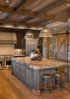 Country Rustic Kitchen #countrydesign #kitchendecor
