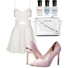blanc by souchi26 on Polyvore featuring polyvore fashion style Topshop Ted Baker MICHAEL Michael Kors Deborah Lippmann