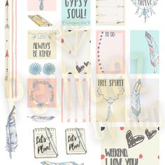 Free Gypsy Soul Boho Chic Planner Weekly Sticker Kit {store checkout required}