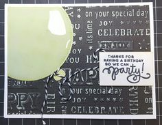SSS birthday balloons card