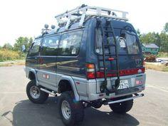 Off-road Mitsubishi Van.