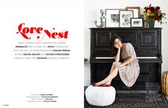 love nest article in lonny magazine featuring home of rachel bilson and hayden christensen - interior design by kishani perera inc.