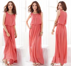 A Clothes 2016 summer Fairy Ladies Boho Maxi Dress Chiffon Sleeveless Pleated Long dress M L XL wave lace strap Princess Dress-in Dresses from Women's Clothing & Accessories on Aliexpress.com | Alibaba Group