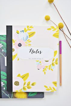 DIY Custom Notebooks with 4 Free Designs | A Joyful Riot