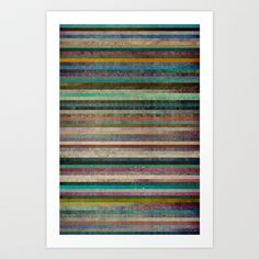 Striped Art Print by Sharon Johnstone - $17.00